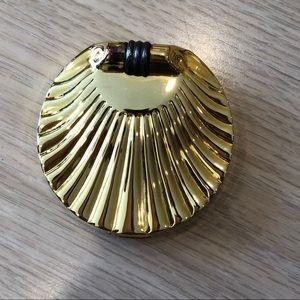 Estee Lauder golden shell pressed powder compact